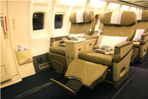 What is the difference between premium economy and business class?