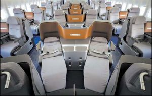 Business Class on Lufthansa Airlines