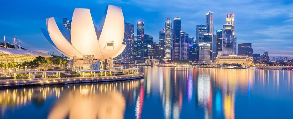 Singapore - Known for its clean streets and its modern, tall buildings!