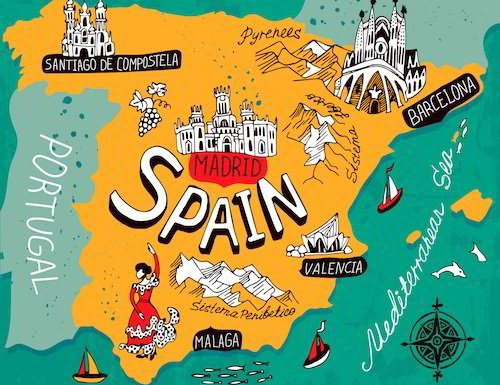 Beautiful Country of Spain