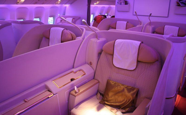Comfort on board First Class