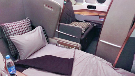 Singapore Airlines Business Class Seats on A350 and 777